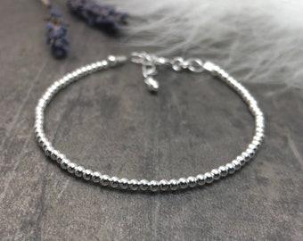 Silver Bracelet, Dainty Stacking Bracelet, Sterling Silver Bracelet, 2mm thin sterling bracelet, Skinny bracelet, Bracelets for Women