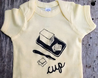 Buttercup Baby Bodysuit - Gender Neutral / Unisex Baby Clothes - Baby Shower Gift - Screen Printed Romper