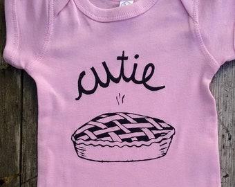 Cutie Pie Baby Bodysuit - Gender Neutral / Unisex Baby Clothes - Baby Shower Gift - Screen Printed Romper