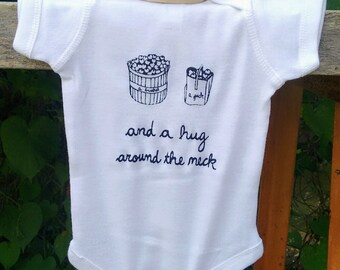 A Bushel and A Peck Baby Bodysuit - Gender Neutral / Unisex Baby Clothes - Baby Shower Gift - Screen Printed Romper