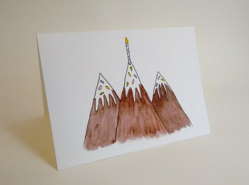 Mountain Range Birthday Cake Card Colorado Utah Arizona