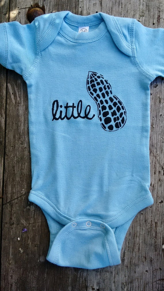 Little Peanut Baby Bodysuit - Gender Neutral / Unisex Baby Clothes - Baby Shower Gift - Screen Printed Romper
