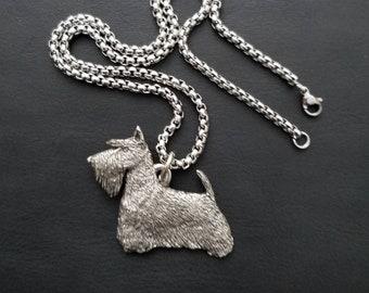 Scottie Necklace, Scottie Dog, Scottie Gifts, Scottish Terrier, Scottie Dog Charms, Scottie Dog Necklace, Scottie, Dog Lover Gift, Free Ship