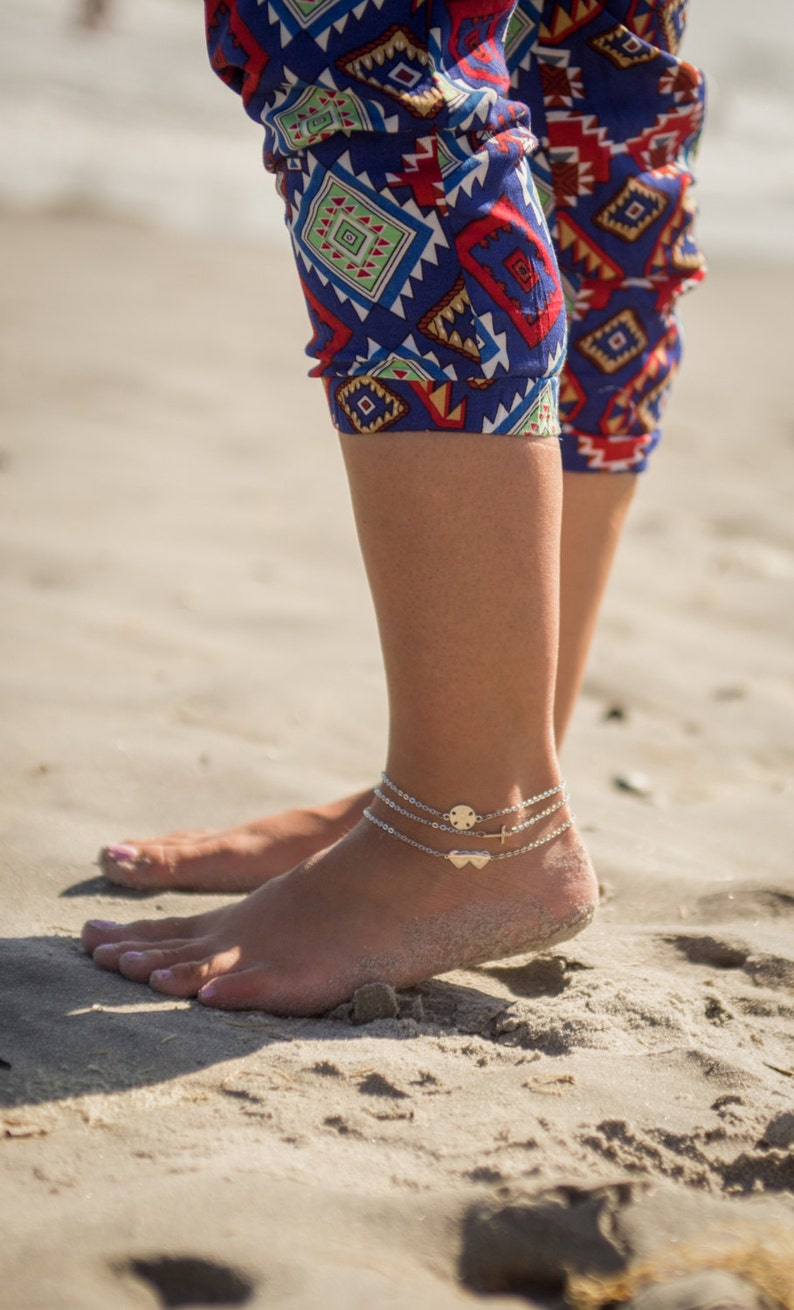 Gold Wishbone Anklet