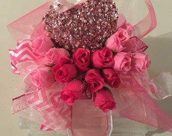 Valentine's Day,  Lighted Glass Block, night light, perfect for her, decoration, unique gift