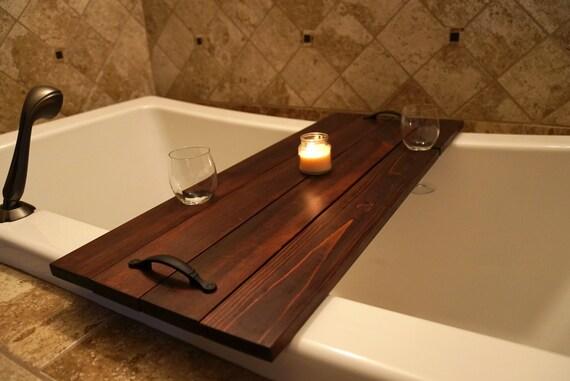 Bathtub Caddy // Bath Tray // Bath Caddy // Double Wine Glass | Etsy