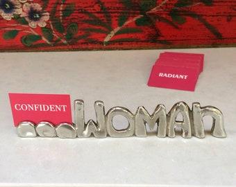 WORD: ...WOMAN w/card set