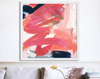 "Abstract Art Downloadable Print, Printable Art, Oversize Art, 36""x36"""