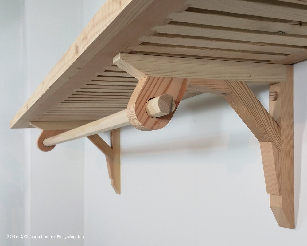 Pair Of Shelf Support Brackets With A Closet Rod Setting