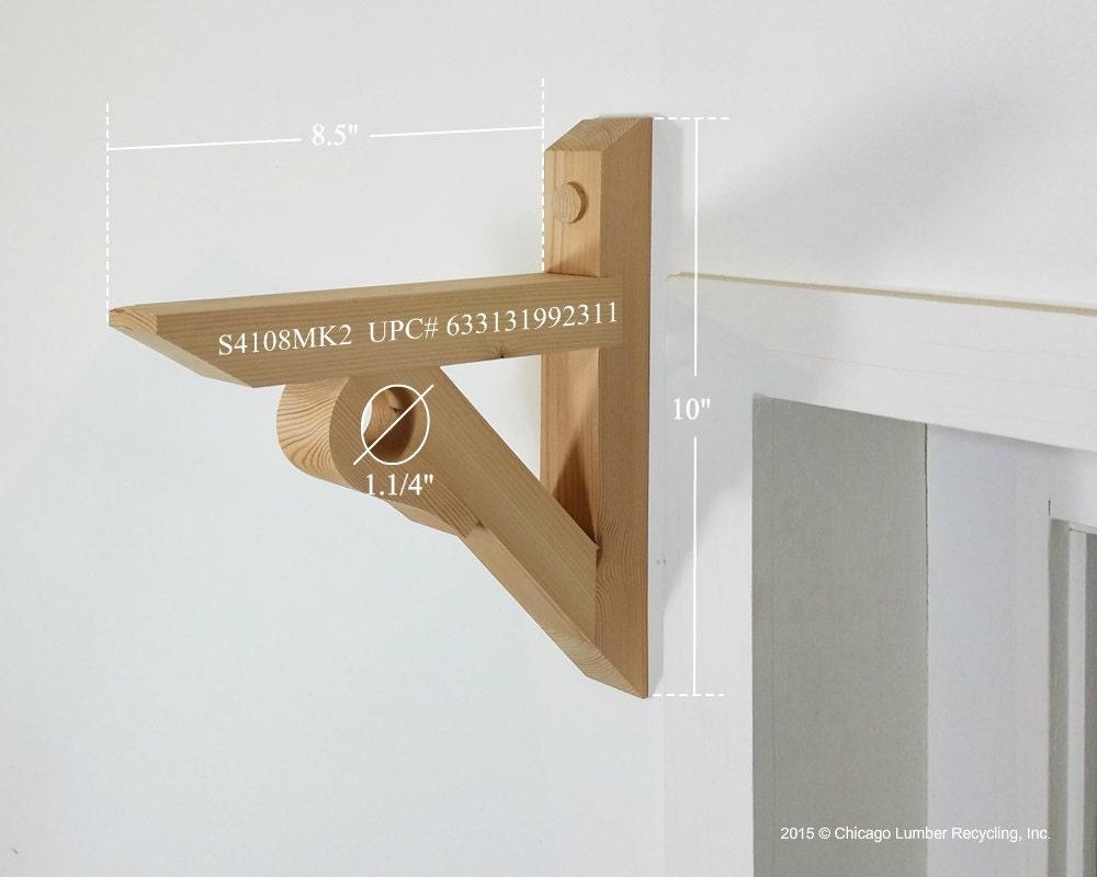 Shelf Bracket Support With Curtain/Drapery Rod Holder