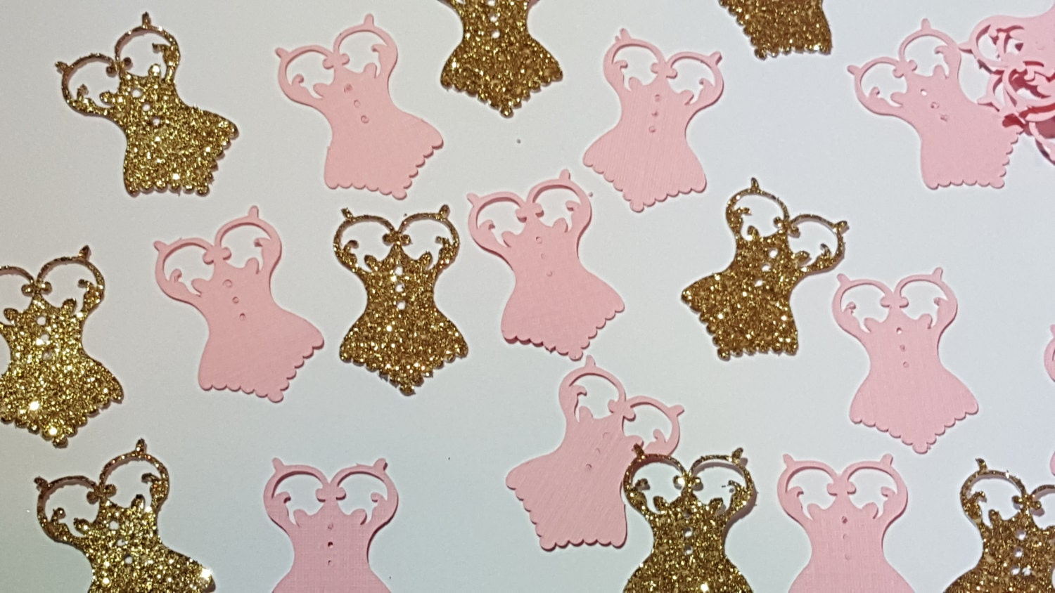 Corset Gold-Pink -Table Scatter- Confetti-Bridal Shower Decor- Gold ...