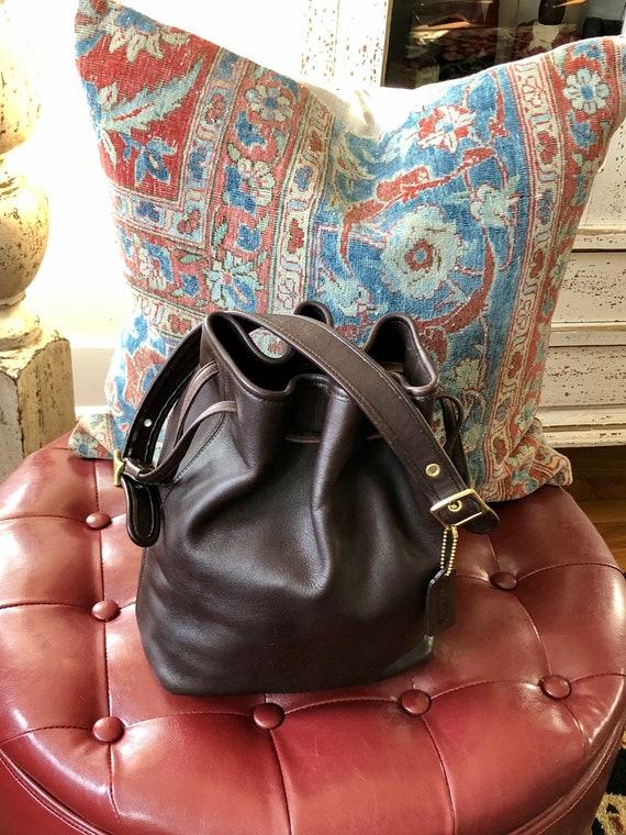 COACH Vintage leather hobo/bucket bag