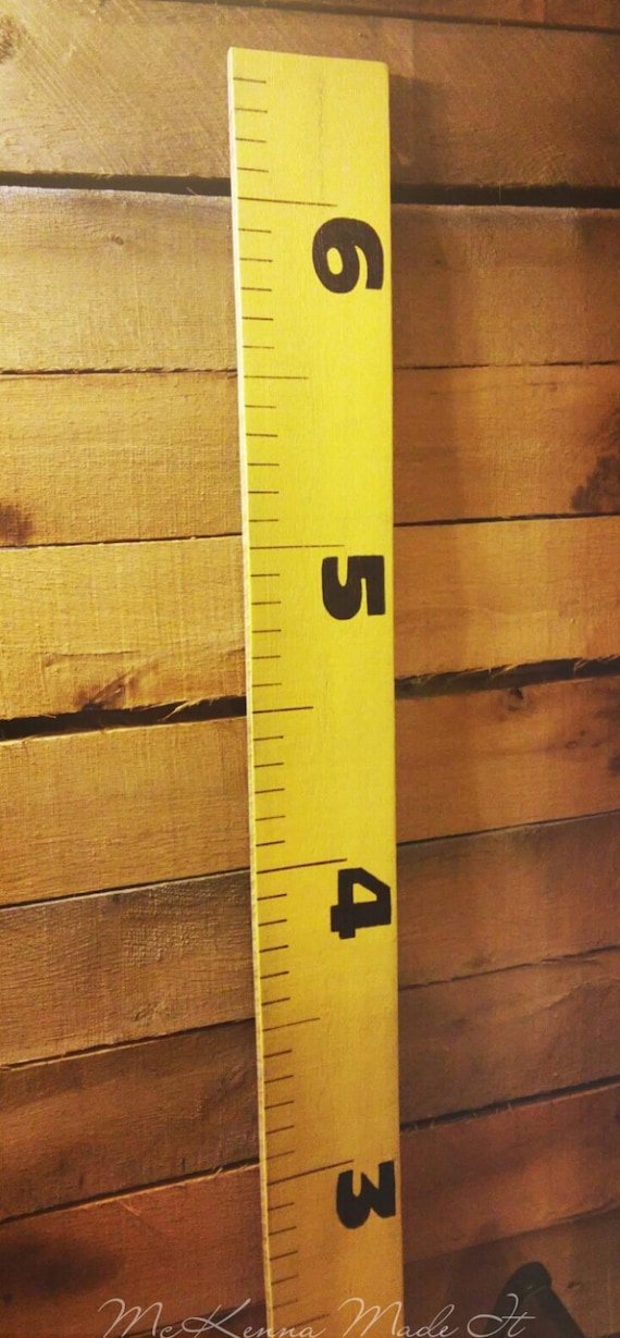 Tape Measure Growth Chart Kids Wooden Growth Chart Kid Room Etsy