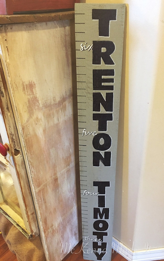 Custom Name Wooden Growth Chart Personalized Name Sign Etsy