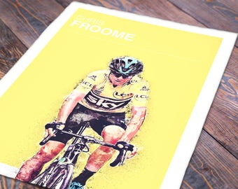 Chris Froome Tour De France Print