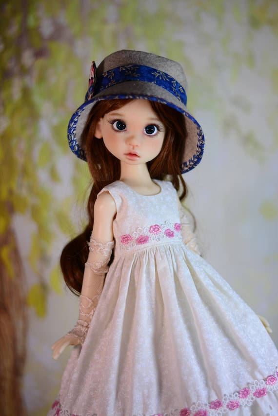 "Fits 18/"" MSD BJD Kaye Wiggs Liz Frost Bohemian Girl PDF Dress /& Hat Pattern"