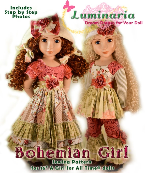 PDF Doll Dress Clothes Pattern. Fits 16 A Girl for All
