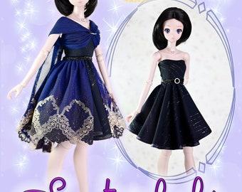 "BJD Doll Clothes Pattern  Fits 23.5"" 1/3 SD Smart Doll Mirai Gala Infinity Convertible Transformer Dress Ball Jointed by Luminaria Designs"