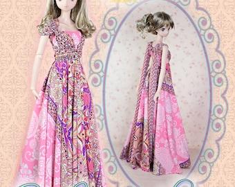 "BJD Doll Clothes Pattern  Fits 23.5"" 1/3 SD Smart Doll Mirai Maxi Infinity Convertible Transformer Dress Ball Jointed by Luminaria Designs"