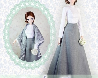 """BJD Doll Clothes Pattern  Fits 23.5"""" 1/3 SD Smart Doll Mirai Lady Grantham Ball Jointed Dolls by Luminaria Designs"""