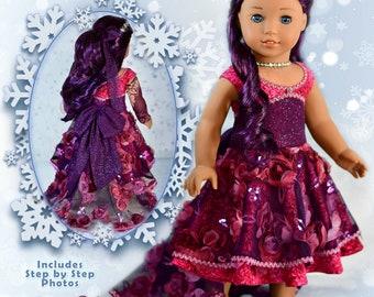 "18 Inch Doll Clothes Dress PDF Sewing Pattern For 18"" Dolls Such as American Girl Sugar Plum Fairy Dress Luminaria Designs"