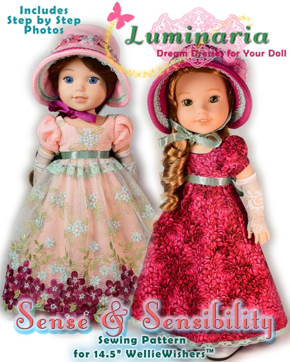 PDF Doll Clothes Pattern Fits 4040 Dolls Such As Etsy Impressive Wellie Wishers Clothes Patterns