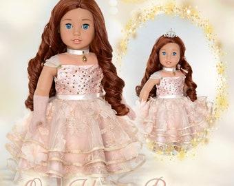 "18 Inch Doll Clothes American Girl PDF Sewing Pattern For 18"" Dolls Sugar Plum Fairy Dress Luminaria Designs"