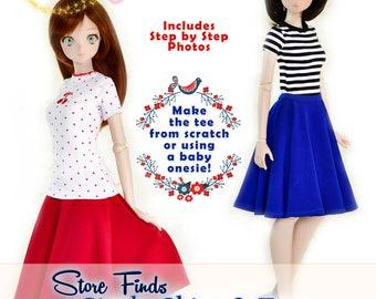 "BJD Doll Clothes Pattern For 23.5"" Mirai SMARTDOLL 1/3 SD Smart Doll Fairyland Feeple60 Dollfie Dream Ball Jointed Dolls Luminaria Designs"
