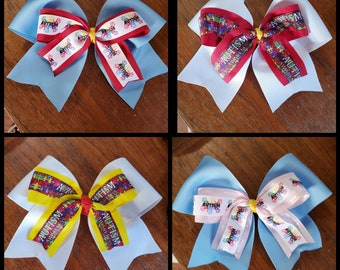 Mowat-Wilson Syndrome awareness Large 3 wide Cheer Hair Bow