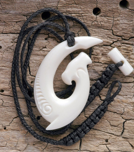 Maori Hammerhead Hei Matau Bone Carving Necklace From New Etsy