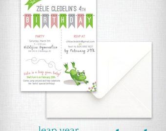 leap invitation etsy