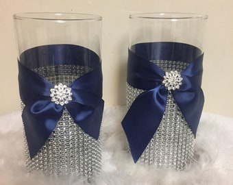 Navy Blue Vase Etsy