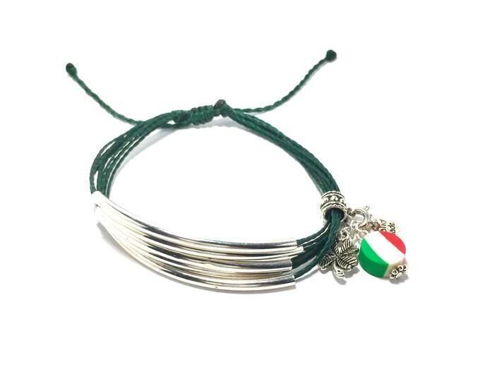 Flag of Mexico Euro European Italian Style Bracelet Bead Charm