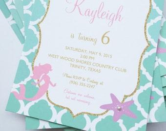Mermaid Party Invitations