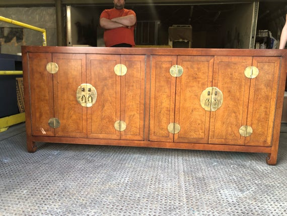 Credenza Definition In English : Henredon chinoiserie buffet or credenza custom lacquer etsy