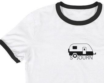 Adult Sojourn Ringer Tee • RV Tee • T-shirt • Vintage • Custom • T-shirts • Funny • Jesus • Women • Mens • Shirt • Hipster • Baseball • Cute