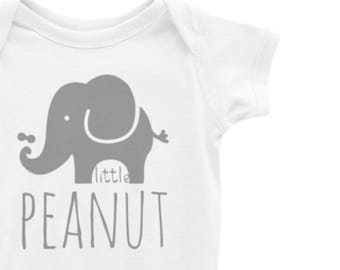 5c14eba2a66537 Little Peanut Elephant • Baby bodysuit • One piece • Baby shirt • Snapsuit  • Shower gift • Creeper • Boy • Girl • Custom • Gender Neutral