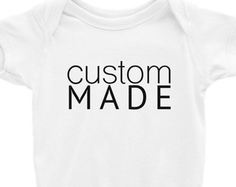 Custom Made For You • Baby Bodysuit • One Piece • Rabbit Skins • Baby Shirt • Personalized Gift • Snapsuit • Layette • Romper • Custom
