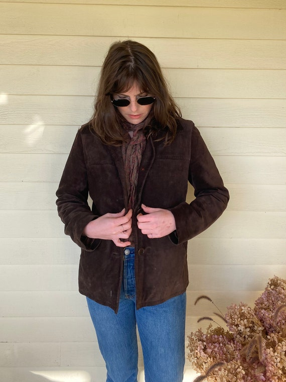 Coach Chocolate Brown Suede Jacket