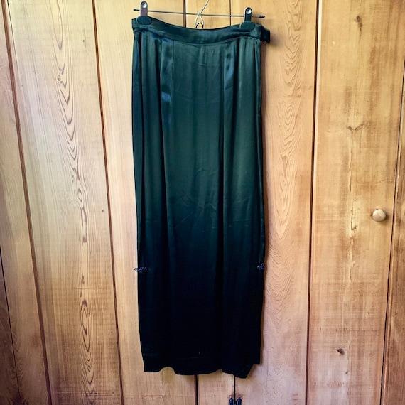 Black Silk Slip Skirt with Side slits