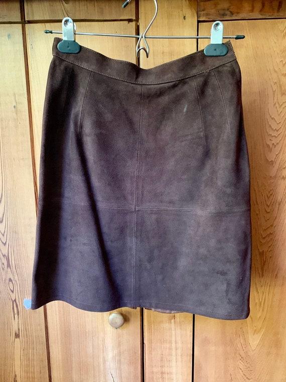 Choclate Brown Suede Western Skirt