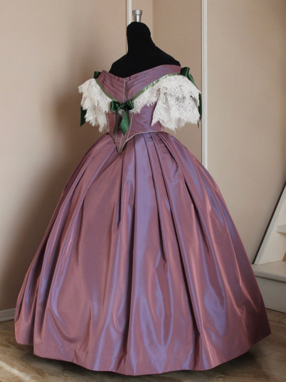 Victorian prom dress Victorian ball gown mauve taffeta | Etsy