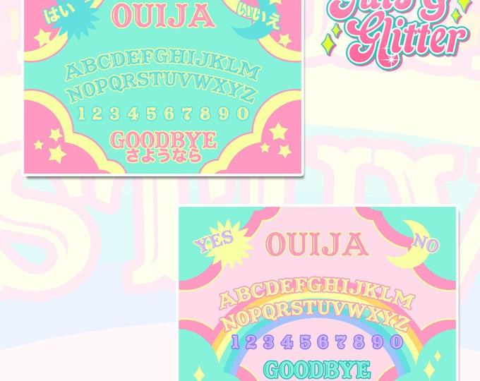 Ouija Board Choice of White Vinyl Sticker