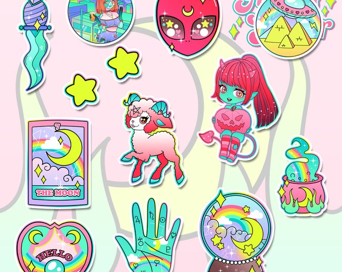 Witchy Holographic Sticker Pack