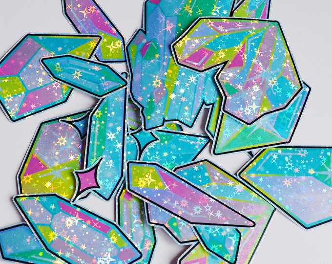 Rainbow Crystals 4.0 Holographic Sticker Pack