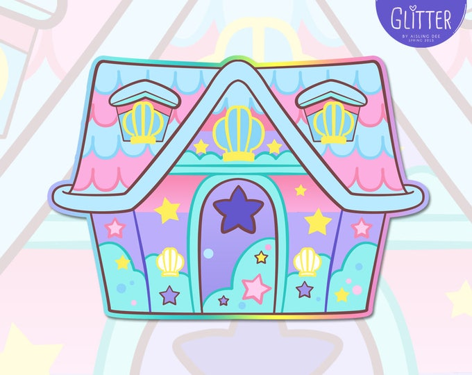 LIMITED RUN Animal Crossing, Mermaid House Holographic Sticker