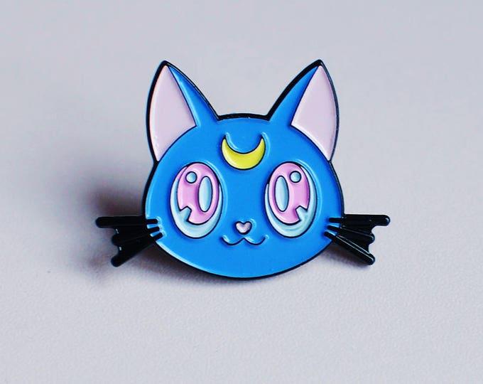 Luna Kitty Soft Enamel Pin (New Colours!)