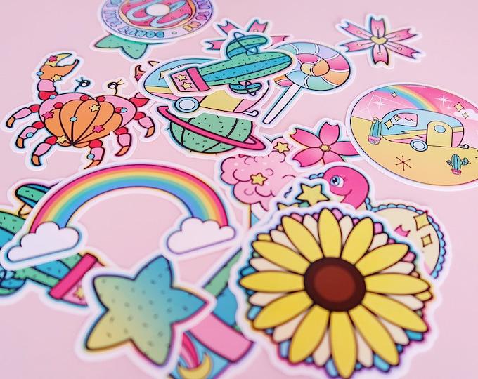 Summer Starter Pack White Vinyl Sticker Bomb Pack