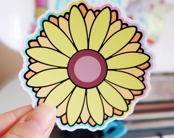Sunflower White Vinyl Sticker Set