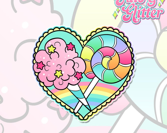 Summer Candy Holographic Sticker